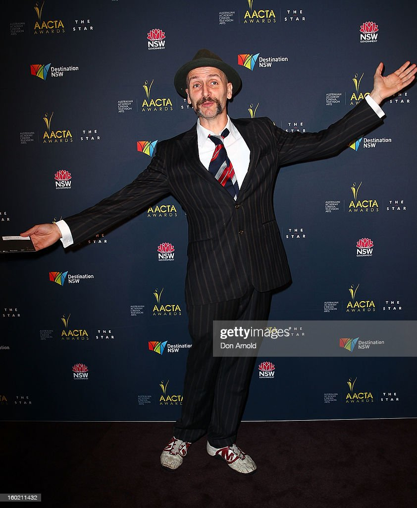 Frank Woodley poses during the 2nd Annual AACTA Awards Luncheon at The Star on January 28, 2013 in Sydney, Australia.
