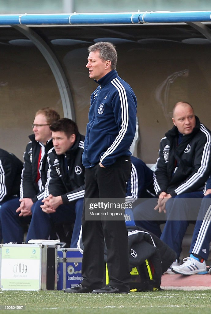 Frank Wormuth head coach of Germany looks on during U20 International Friendly match between Italy and Germany at Stadio Cosimo Puttilli on February 6, 2013 in Barletta, Italy.