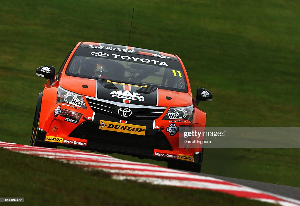 Frank Wrathall of Great Britain drives the #11 Dynojet Vauxhall Vectra during practice for the Dunlop MSA British Touring Car Championship race at the Brands Hatch Circuit on October 20, 2012 near Longfield, United Kingdom.