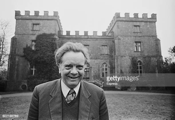 Frank Yeates outside his home Clearwell Castle in Clearwell Forest of Dean Gloucestershire UK 14th January 1971 Yeates the son of a former gardener...