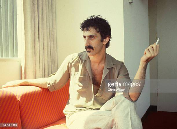 Frank Zappa at Utility Muffin Research Kitchen his home studio in Laurel Canyon early 1980s during Music File Photos 1980's at the Music File Photos...