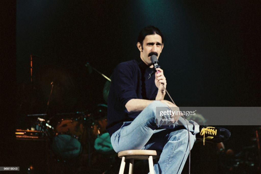 Frank Zappa performs on stage at Hammersmith Odeon, on December 18th, 1979 in London, United Kingdom.