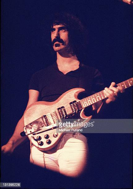 Frank Zappa performs on stage London 1971