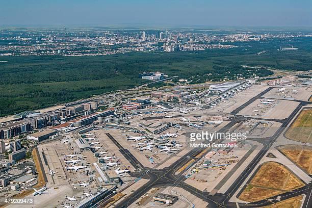 Frankfurt Airport aerial view