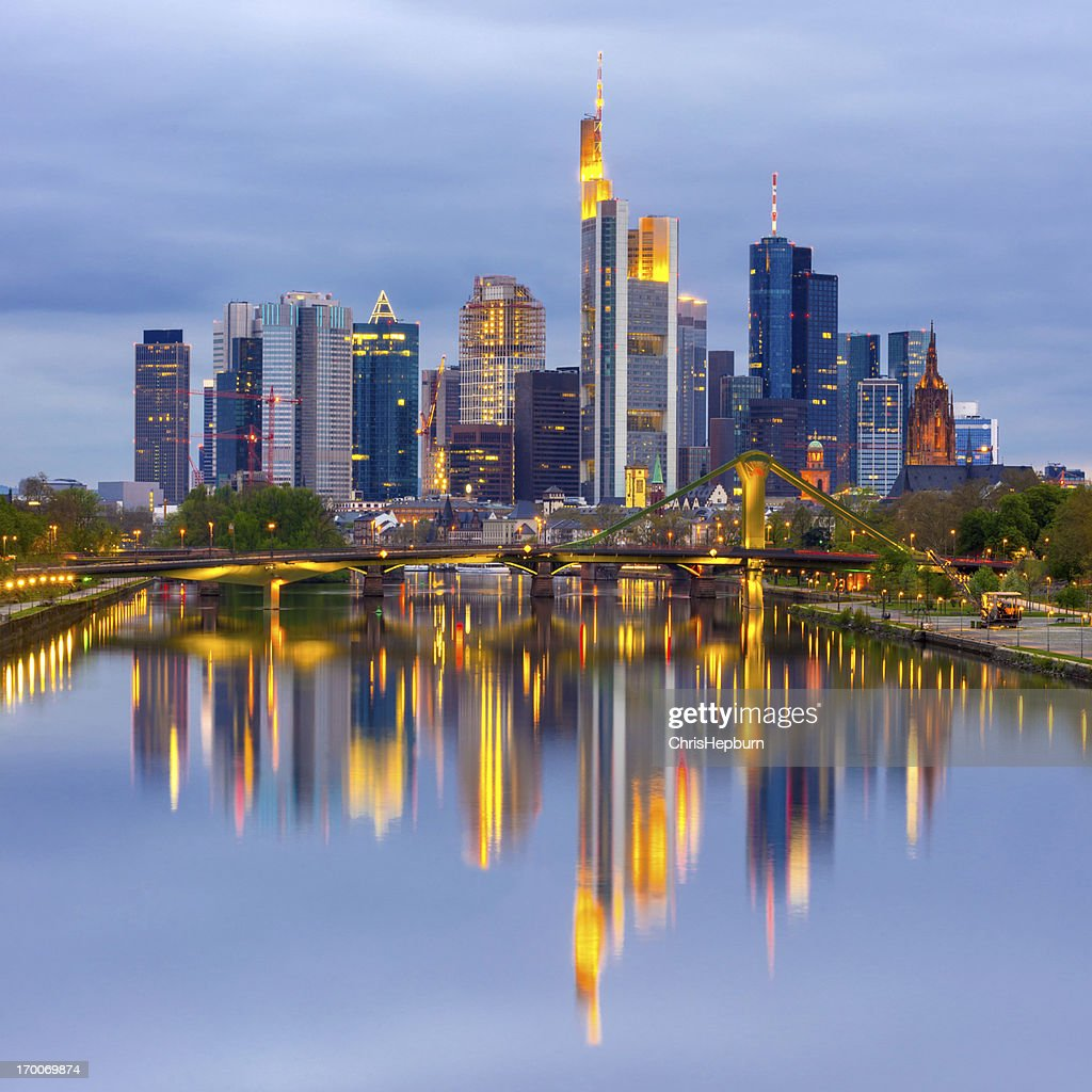 Frankfurt am Main Germany  city pictures gallery : Frankfurt Am Main Skyline Germany Stock Photo | Getty Images