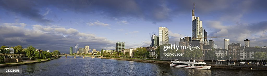 Frankfurt am Main skyscrapers river downtown cityscape panorama Hessen Germany