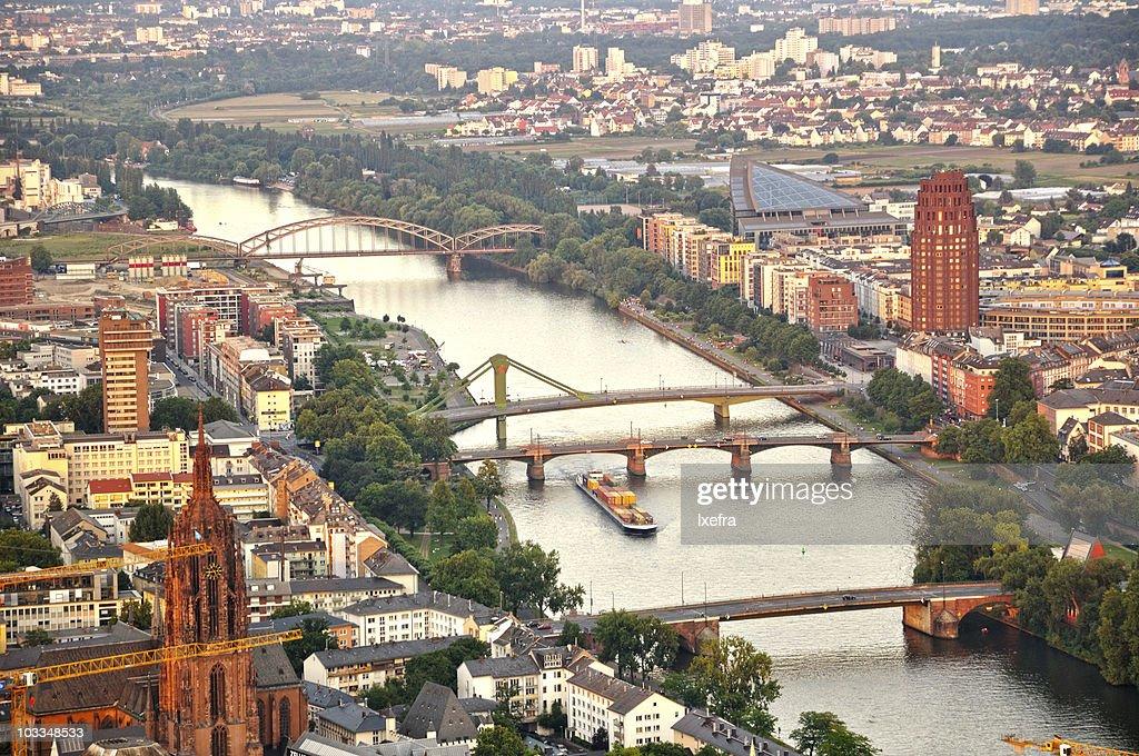 Frankfurt at the banks of river Main.