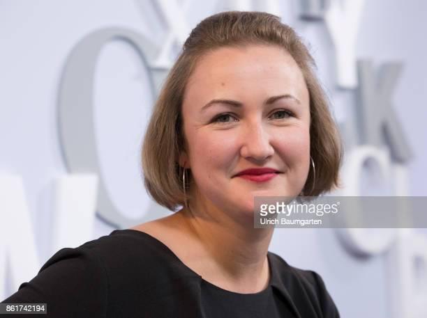 Frankfurt Book Fair 2017 Emilia Smechowski PolishGerman journalist and writer during an interview
