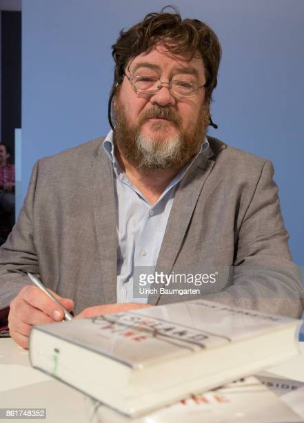 Frankfurt Book Fair 2017 John Burnside Scottish writer signed his books