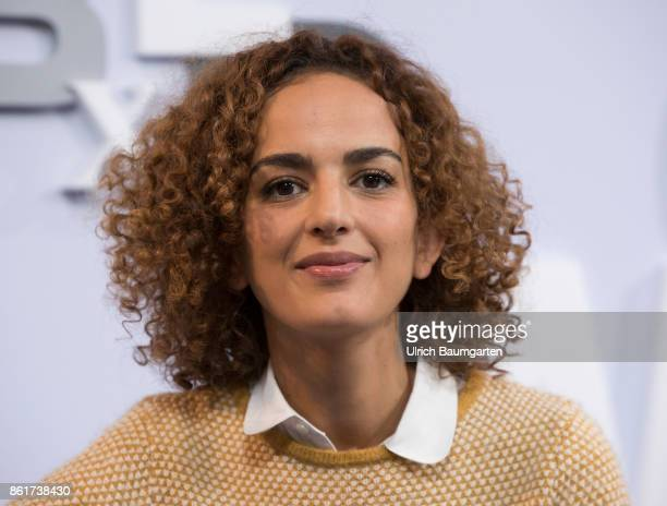 Frankfurt Book Fair 2017 Leila Slimani FrenchMarrocan writer and journalist during an interview