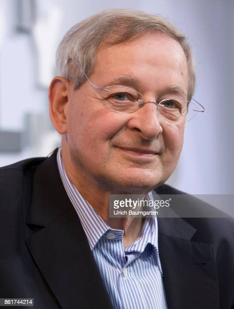 Frankfurt Book Fair 2017 Peter Nadas Hungarian writer during an interview