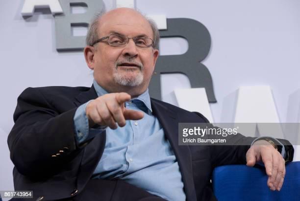 Frankfurt Book Fair 2017 Salman Rushdie IndianBritish author during an interview