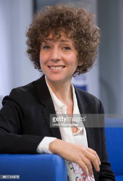 Frankfurt Book Fair 2017 Sasha Marianna Salzmann German writer during an interview