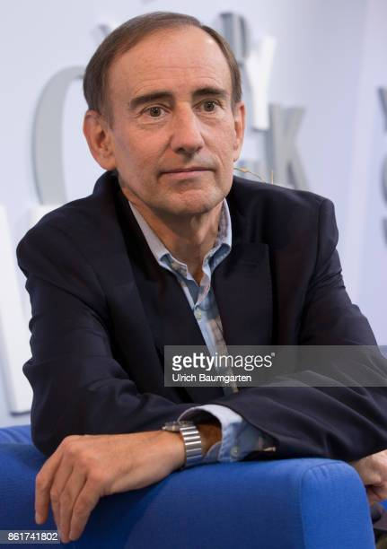 Frankfurt Book Fair 2017 Uwe Jean Heuser German journalist and author during an interview