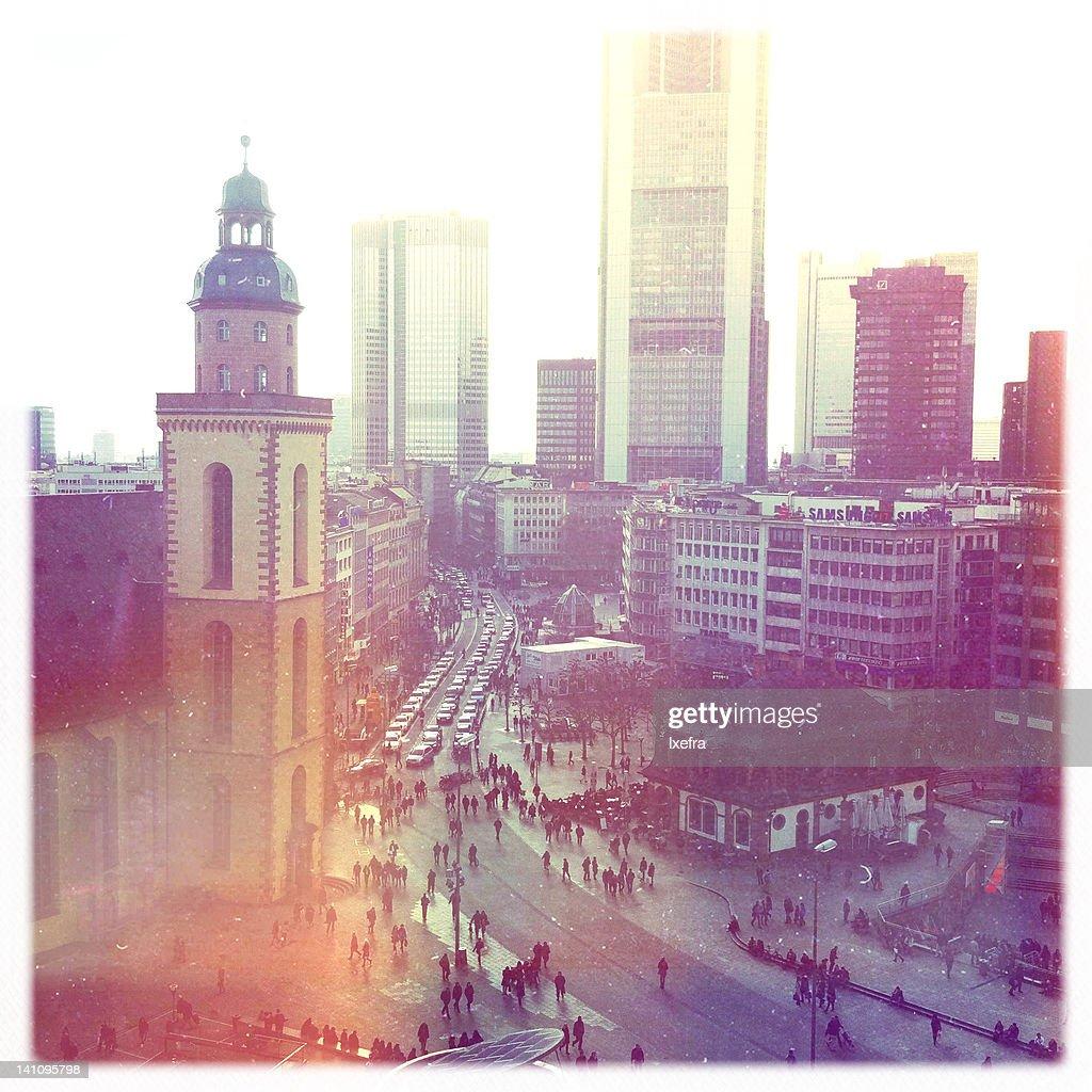 Frankfurt downtown : Stock Photo