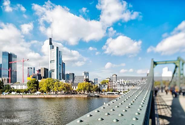 Frankfurt, Eiserner Steg, Skyline, Deutschland