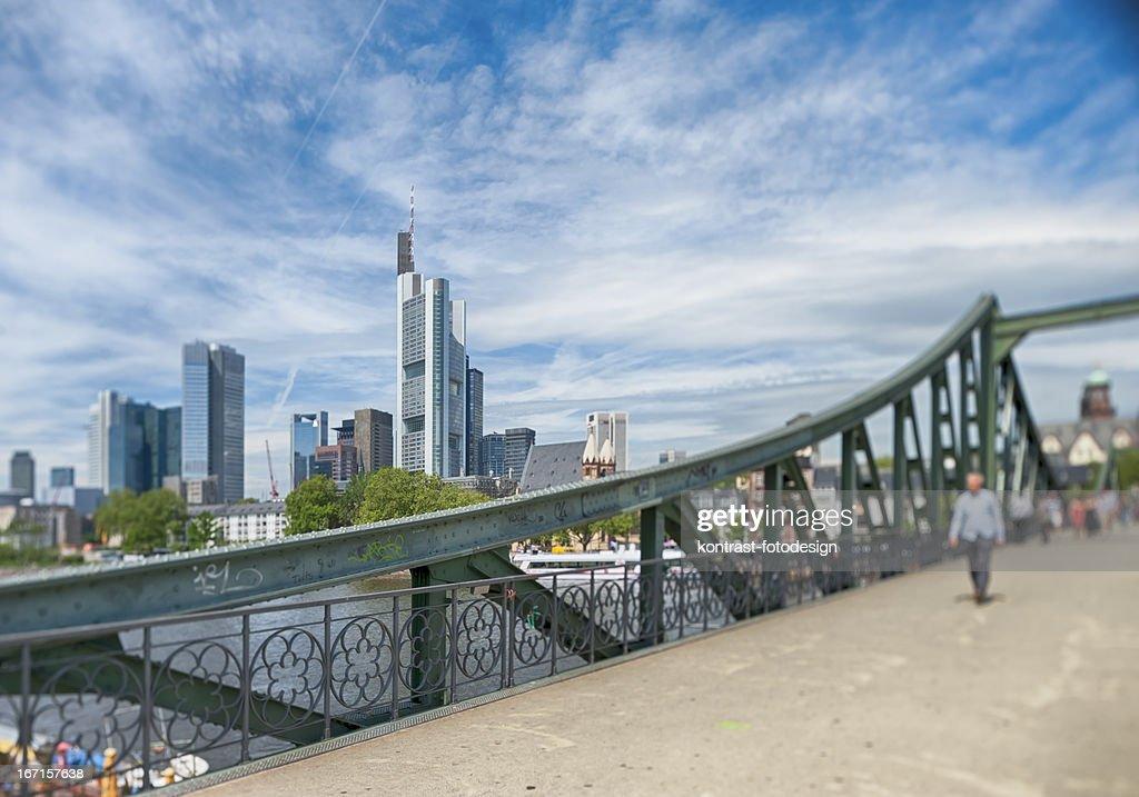 Frankfurt, Eiserner Steg, Skyline, Germany