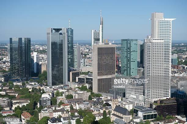 Frankfurt Finanzviertel skyline der Stadt, Luftaufnahme