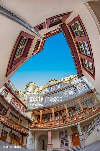 Frankfurt neue Altstadt reconstruct ed old town : Foto stock