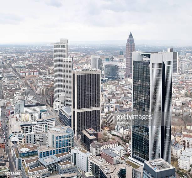 Immeubles de bureaux de Francfort, en Allemagne, le centre financier de la ville centre-ville