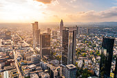 Frankfurt Skyline at sunset, Germany