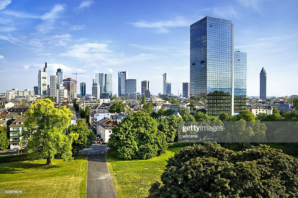 Frankfurt Skyline : Stock Photo