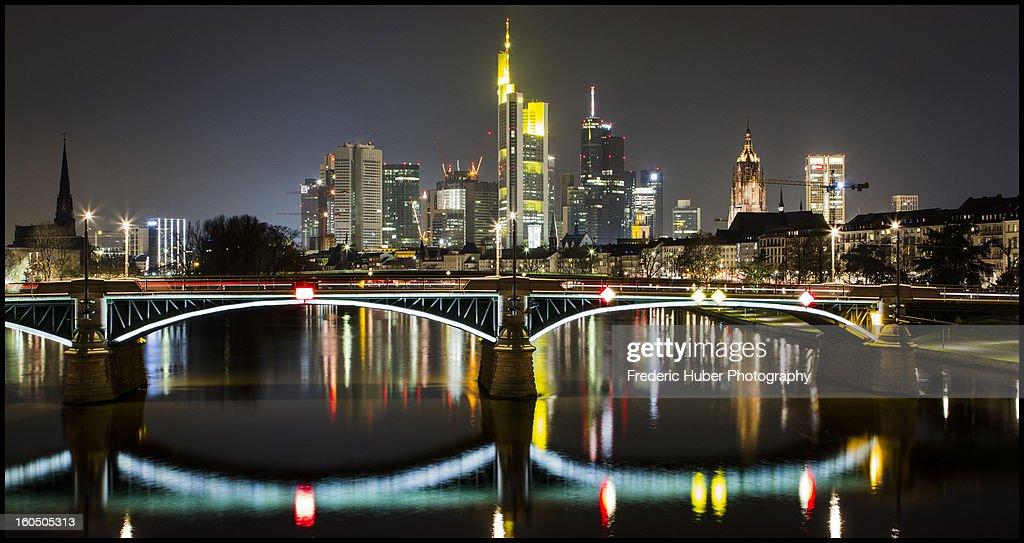 Frankfurt Skyline : Stock Photo