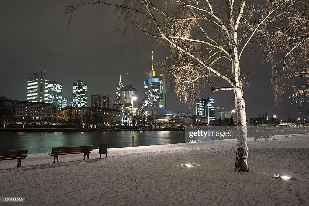 Frankfurt, Skyline, Winter, Germany. : Stock Photo