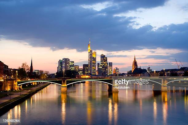 Frankfurt Skyline with a Dramatic Cloudscape