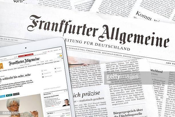 Frankfurter Allgemeine Zeitung, FAZ imprimées et en ligne moyenne
