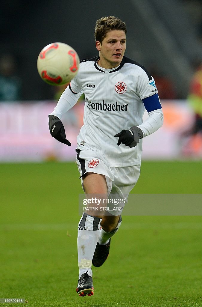 Frankfurt's Swiss midfielder Pirmin Schwegler during the German first division Bundesliga football match Bayer Leverkusen vs Eintracht Frankfurt in the German city of Leverkusen on January 19, 2013.