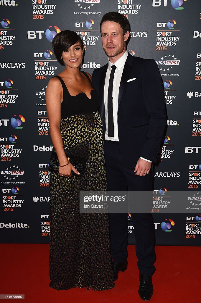 Frankie and Wayne Bridge pose on the red carpet at the BT Sport Industry Awards 2015 at Battersea Evolution on April 30 2015 in London England The BT...