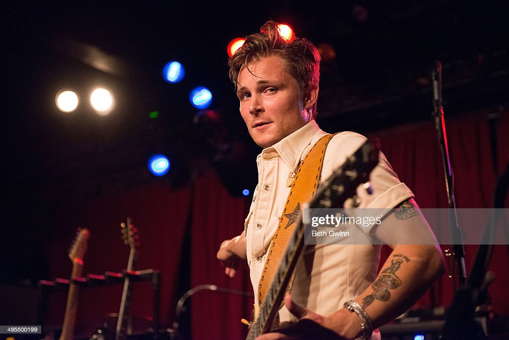 <a gi-track='captionPersonalityLinkClicked' href=/galleries/search?phrase=Frankie+Ballard&family=editorial&specificpeople=8045252 ng-click='$event.stopPropagation()'>Frankie Ballard</a> plays the 2014 Country Weekly Kick-Off Party at Mercy Lounge on June 3, 2014 in Nashville, Tennessee.