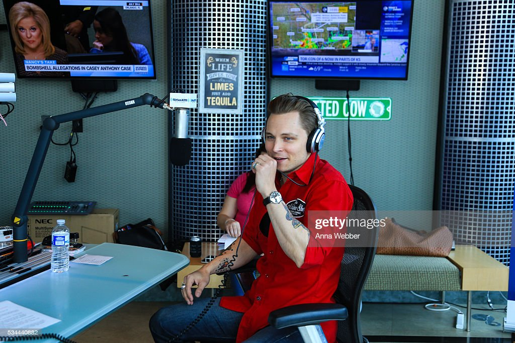 Frankie Ballard Visits Storme Warren 'The Highway' at SiriusXM Studios Nashville on May 26, 2016 in Nashville, Tennessee.