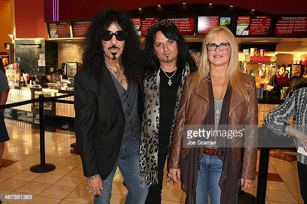 Frankie Banali Alex Grossi and Regina Russell attend the 2014 Newport Beach Film Festival World Premiere of yhe Quiet Riot documentary 'Well Now...