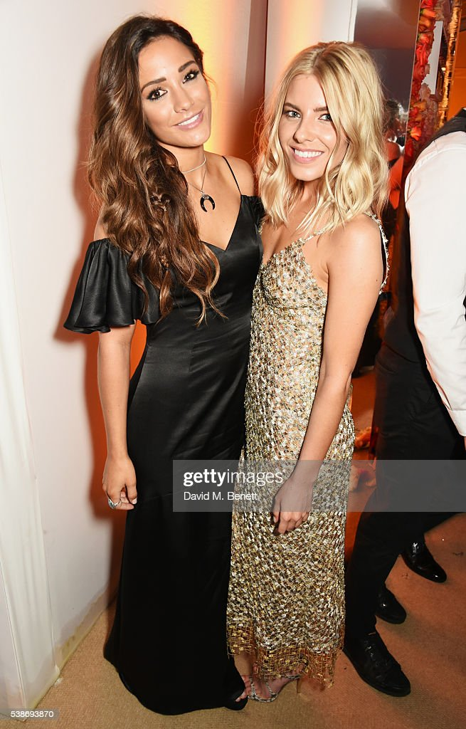 Frankie Bridge and Mollie King attend the Glamour Women Of The Year Awards after party in Berkeley Square Gardens on June 7 2016 in London United...