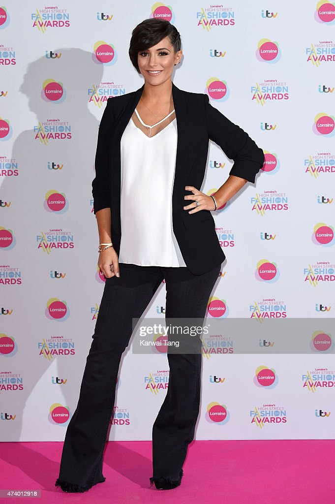 Frankie Bridge attends Lorraine's High Street Fashion Awards at Grand Connaught Rooms on May 19 2015 in London England