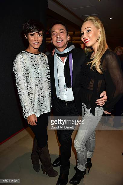 Frankie Bridge Bruno Tonioli and Iveta Lukiosiute attends a Gala Performance of 'Edward Scissorhands' at Sadler's Wells Theatre on December 7 2014 in...
