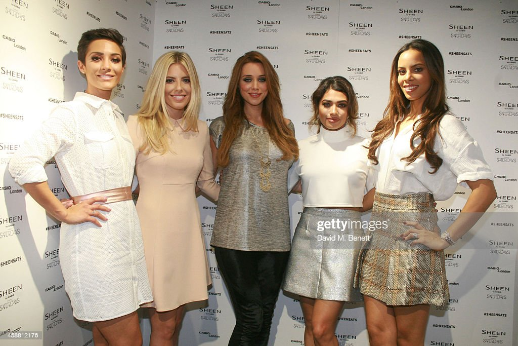 Frankie Bridge Millie King Una Foden Vanessa White and Rochelle Humes pictures as the Casio Sheen 2014 brand ambassadors The Saturdays perform to a...