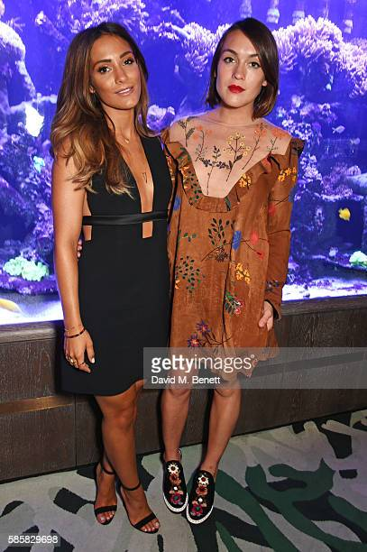 Frankie Bridge poses with Ella Catliff at the Thomas Sabo launch dinner where she was announced as the new UK Ireland Brand Ambassador at Sexy Fish...
