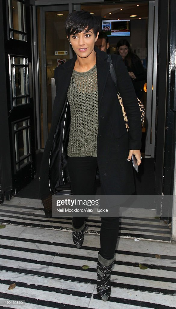Frankie Bridge seen at BBC Radio 2 on December 15, 2014 in London, England.