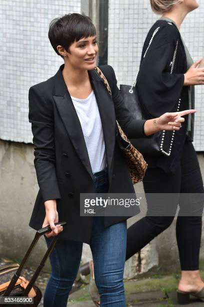 Frankie Bridge seen at the ITV Studios on August 17 2017 in London England