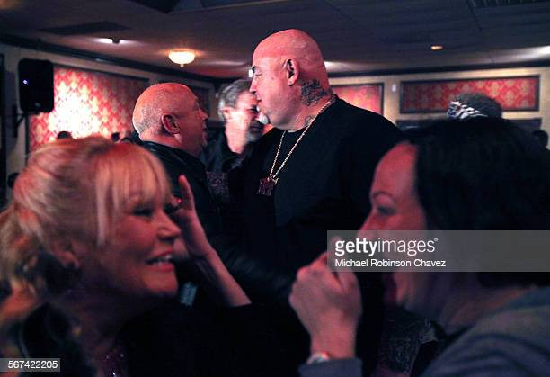 Frankie Citro threw a going away party and fundraiser for his friend Charlie 'Peewee' Goldman center who is heading to prison for 25 years after a...