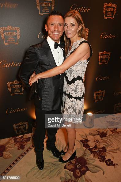 Frankie Dettori and Catherine Dettori attend The Cartier Racing Awards 2016 at The Dorchester on November 8 2016 in London England