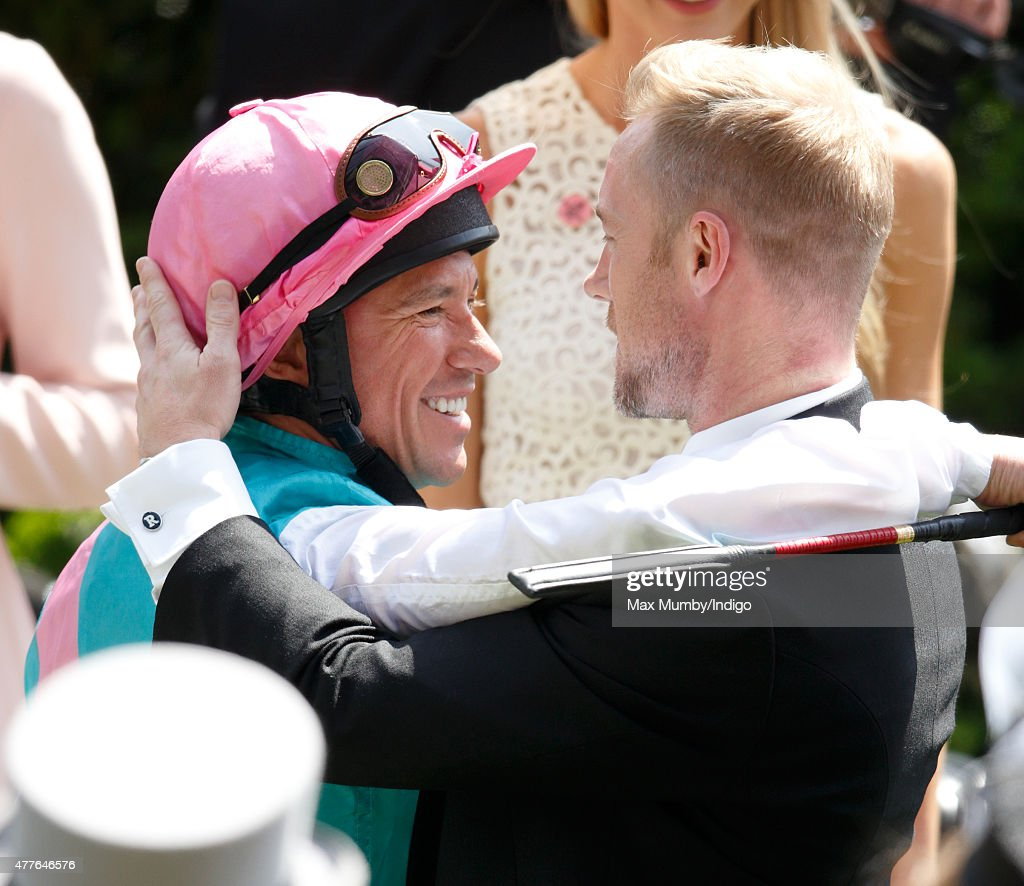Frankie Dettori and Ronan Keating attend day 3, Ladies Day, of Royal Ascot at Ascot Racecourse on June 18, 2015 in Ascot, England.