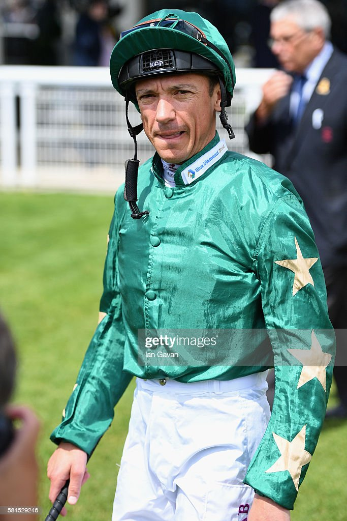 Frankie Dettori arrives at the Qatar Goodwood Festival 2016 at Goodwood on July 29, 2016 in Chichester, England.