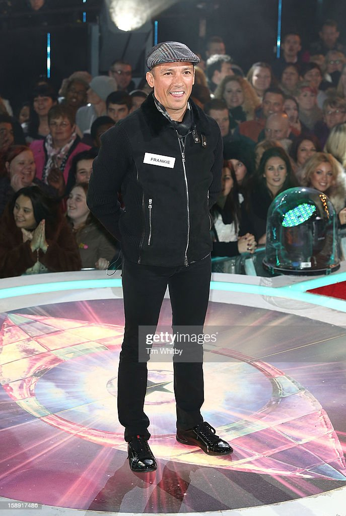 <a gi-track='captionPersonalityLinkClicked' href=/galleries/search?phrase=Frankie+Dettori&family=editorial&specificpeople=167142 ng-click='$event.stopPropagation()'>Frankie Dettori</a> enters the Celebrity Big Brother House at Elstree Studios on January 3, 2013 in Borehamwood, England.
