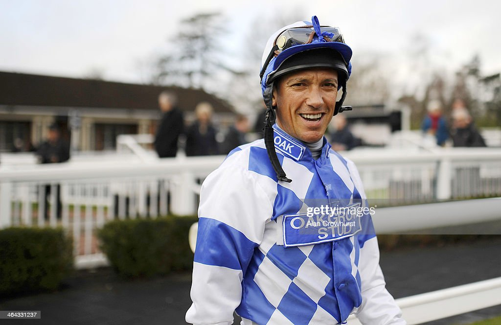 <a gi-track='captionPersonalityLinkClicked' href=/galleries/search?phrase=Frankie+Dettori&family=editorial&specificpeople=167142 ng-click='$event.stopPropagation()'>Frankie Dettori</a> leaves the weighing room before riding Eco Warrior to win The coral.co.uk Median Auction Maiden Stakes on his comeback ride after breaking his ankle at Lingfield racecourse on January 22, 2014 in Lingfield, England.