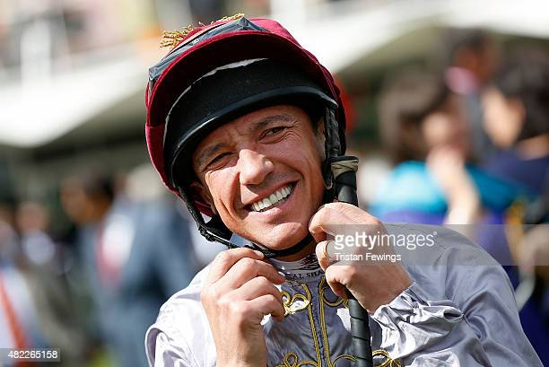 Frankie Dettori on day two of the Qatar Goodwood Festival at Goodwood Racecourse on July 29 2015 in Chichester England