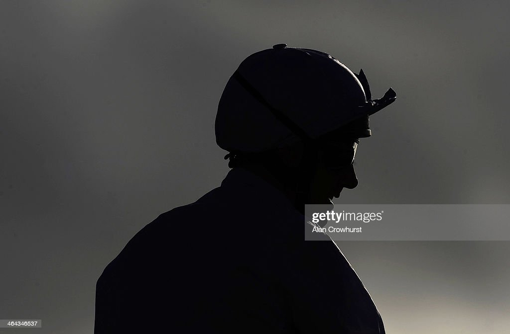 <a gi-track='captionPersonalityLinkClicked' href=/galleries/search?phrase=Frankie+Dettori&family=editorial&specificpeople=167142 ng-click='$event.stopPropagation()'>Frankie Dettori</a> poses at Lingfield racecourse on January 22, 2014 in Lingfield, England.